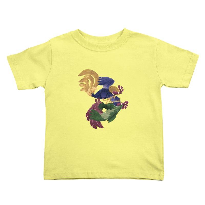 Roosters Kids Toddler T-Shirt by erdavid's Artist Shop