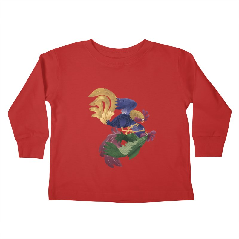Roosters Kids Toddler Longsleeve T-Shirt by erdavid's Artist Shop
