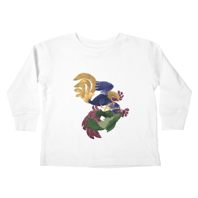 Roosters Kids Toddler Longsleeve T-Shirt by erdavid's Artist Shop