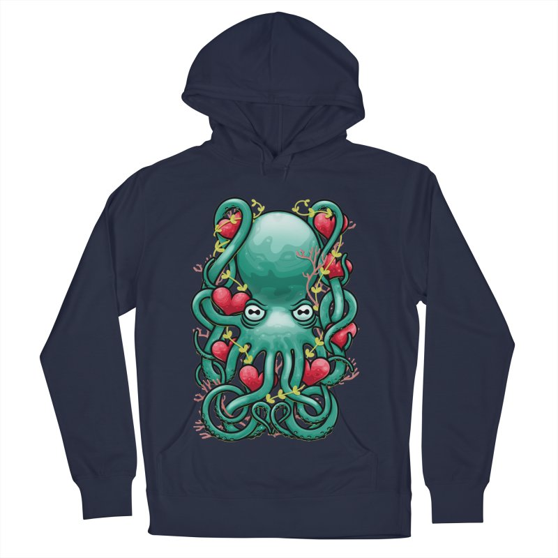 Octupus and Hearts Women's Pullover Hoody by erdavid's Artist Shop