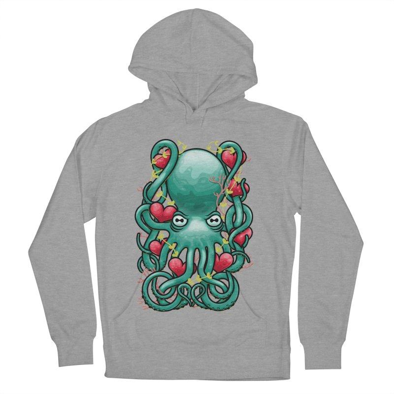 Octupus and Hearts Men's Pullover Hoody by erdavid's Artist Shop