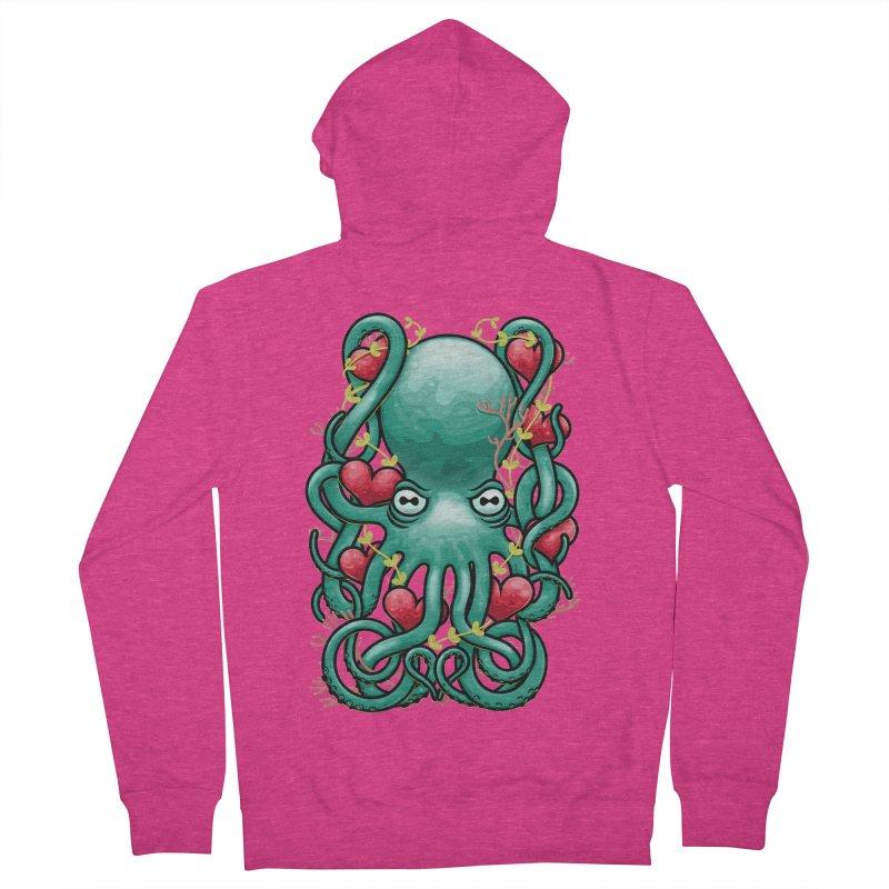 Octupus and Hearts Women's Zip-Up Hoody by erdavid's Artist Shop