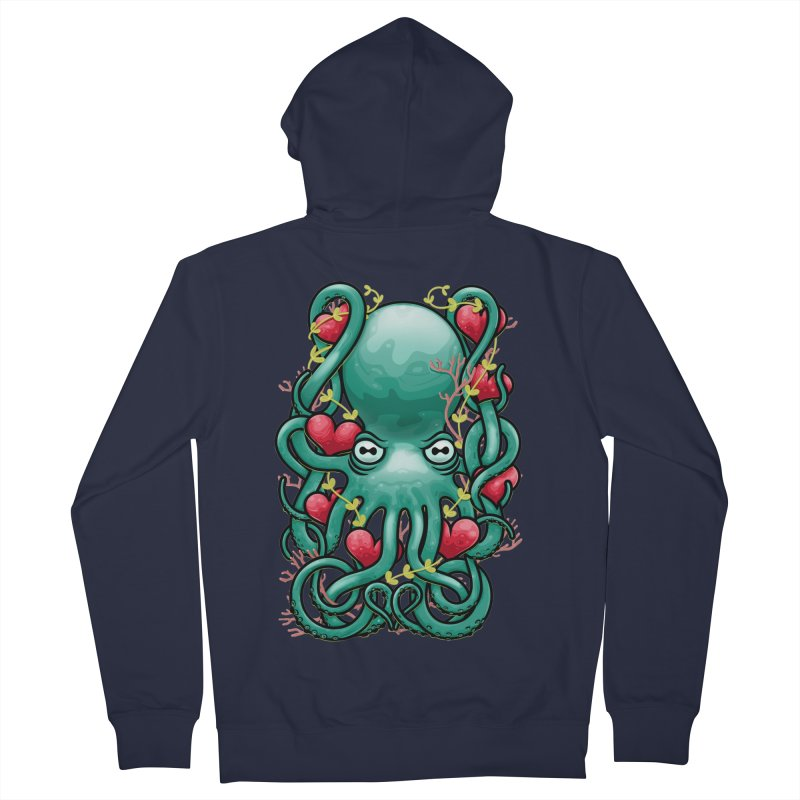 Octupus and Hearts Women's Zip-Up Hoody by erdavid's Artist Shop