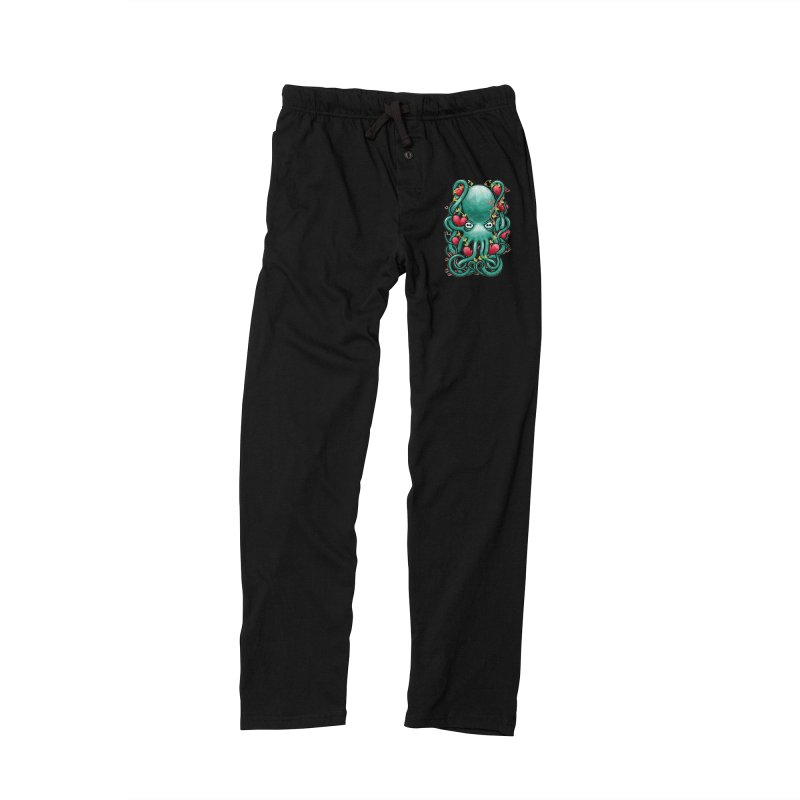 Octupus and Hearts Women's Lounge Pants by erdavid's Artist Shop