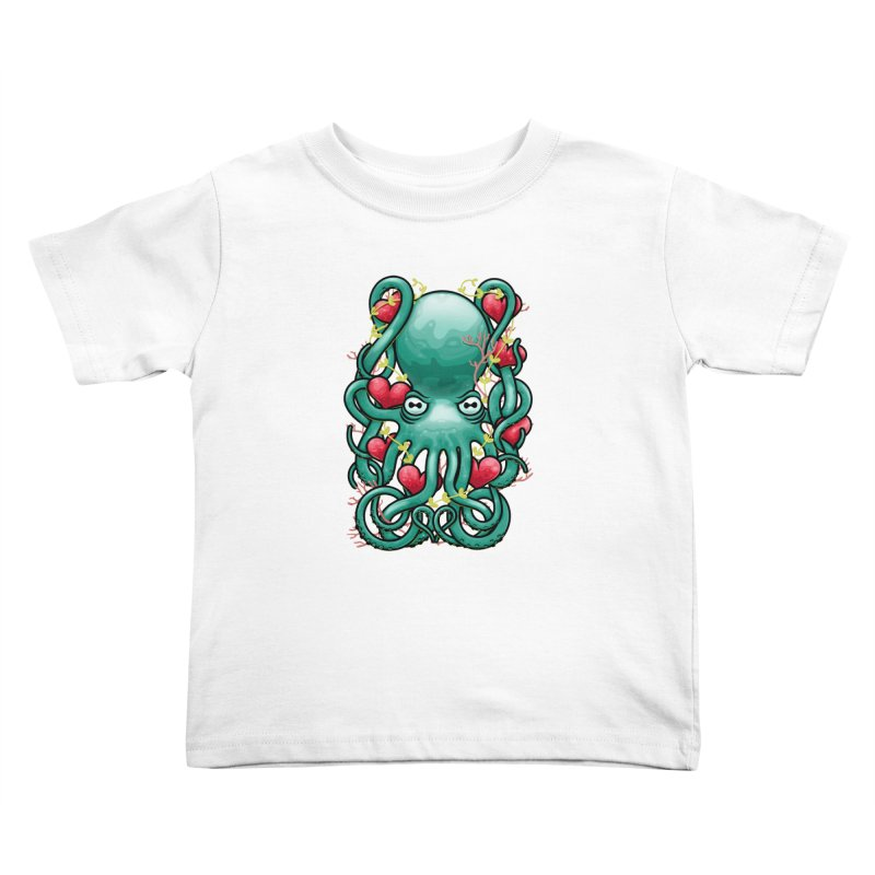 Octupus and Hearts Kids Toddler T-Shirt by erdavid's Artist Shop