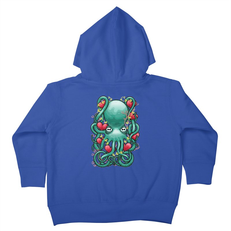 Octupus and Hearts Kids Toddler Zip-Up Hoody by erdavid's Artist Shop