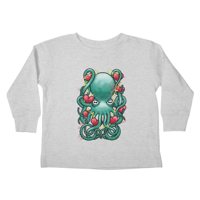 Octupus and Hearts Kids Toddler Longsleeve T-Shirt by erdavid's Artist Shop