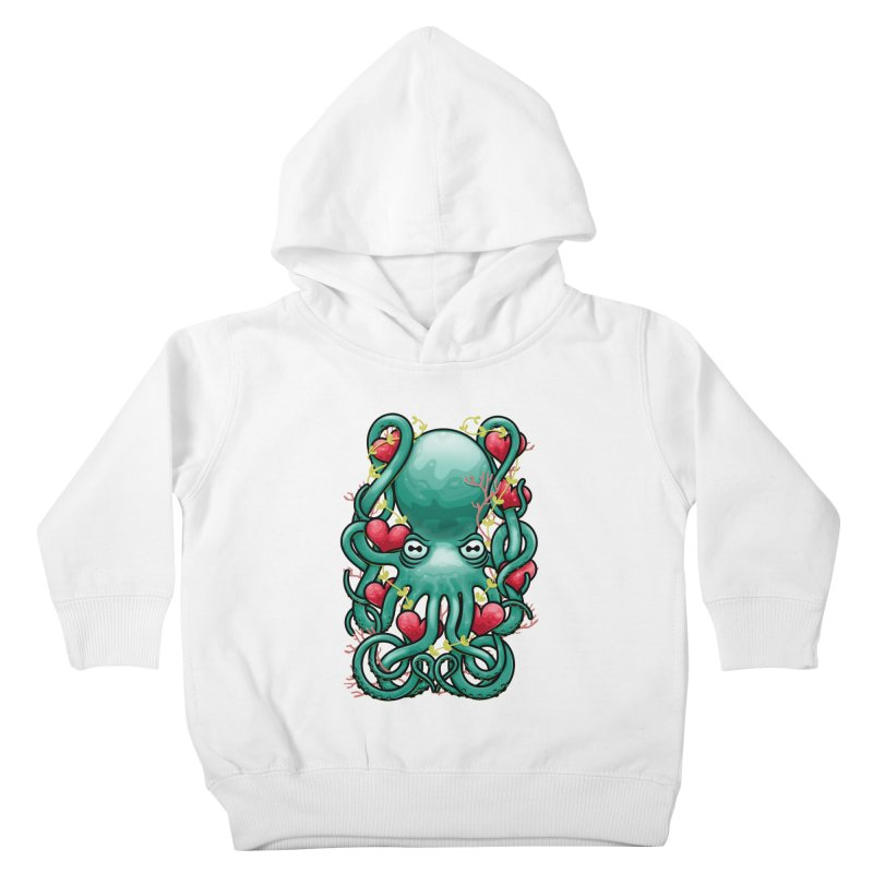 Octupus and Hearts Kids Toddler Pullover Hoody by erdavid's Artist Shop