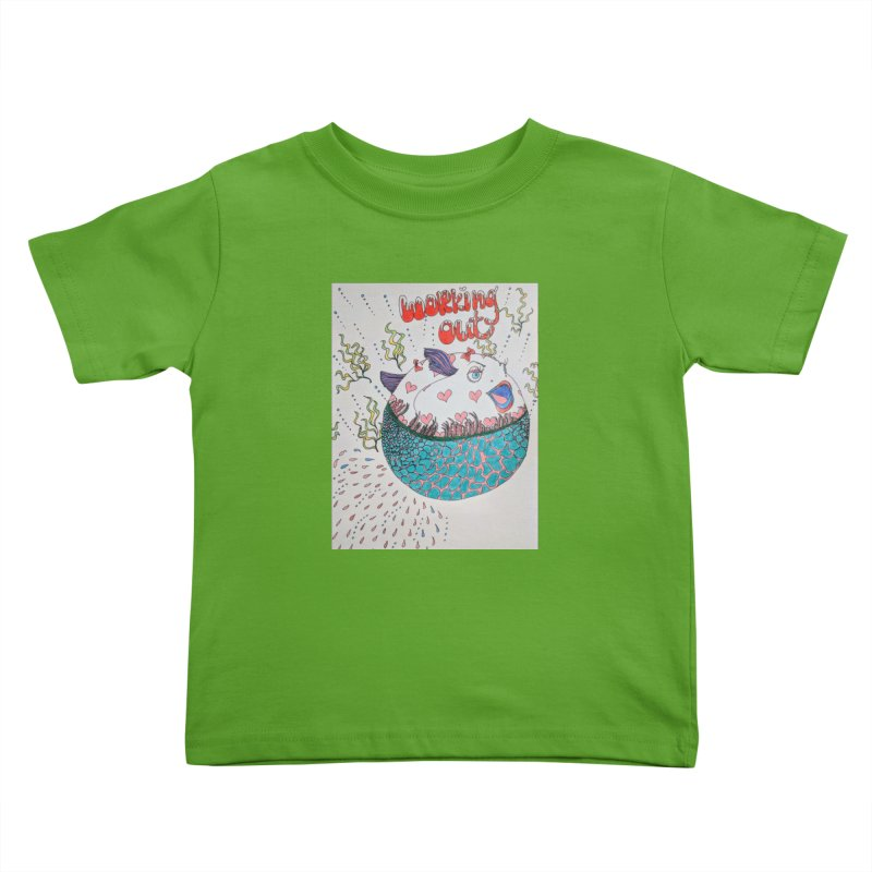 working out! Kids Toddler T-Shirt by ereiarthawaii's Shop
