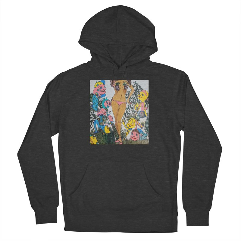 Oppai-neapple Men's French Terry Pullover Hoody by ereiarthawaii's Shop