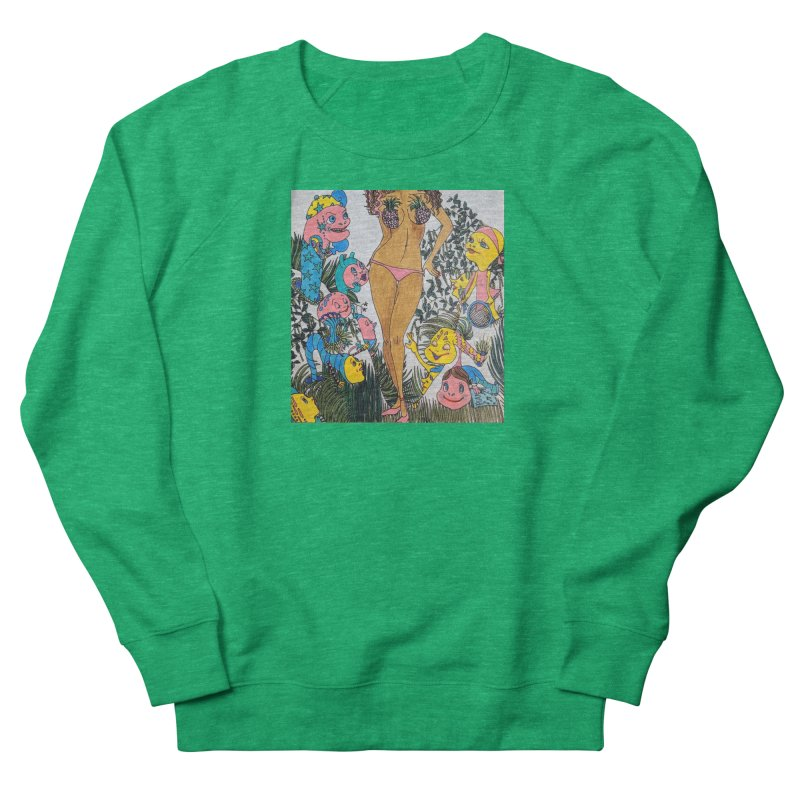 Oppai-neapple Men's French Terry Sweatshirt by ereiarthawaii's Shop