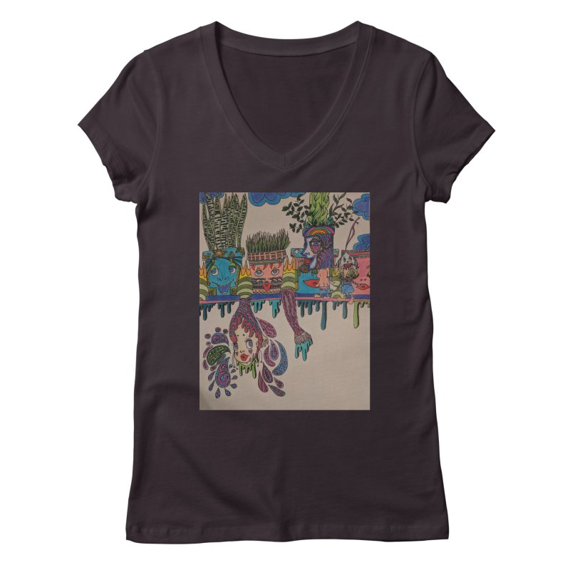 Plant Field Trip Women's Regular V-Neck by ereiarthawaii's Shop