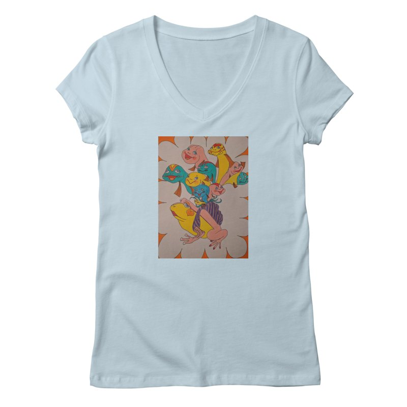 Frog Life Women's Regular V-Neck by ereiarthawaii's Shop