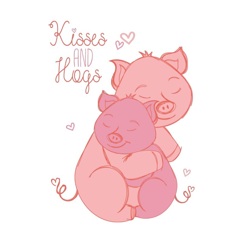 Kisses and Hogs by Elena Roohi Harris Designs Artist Shop