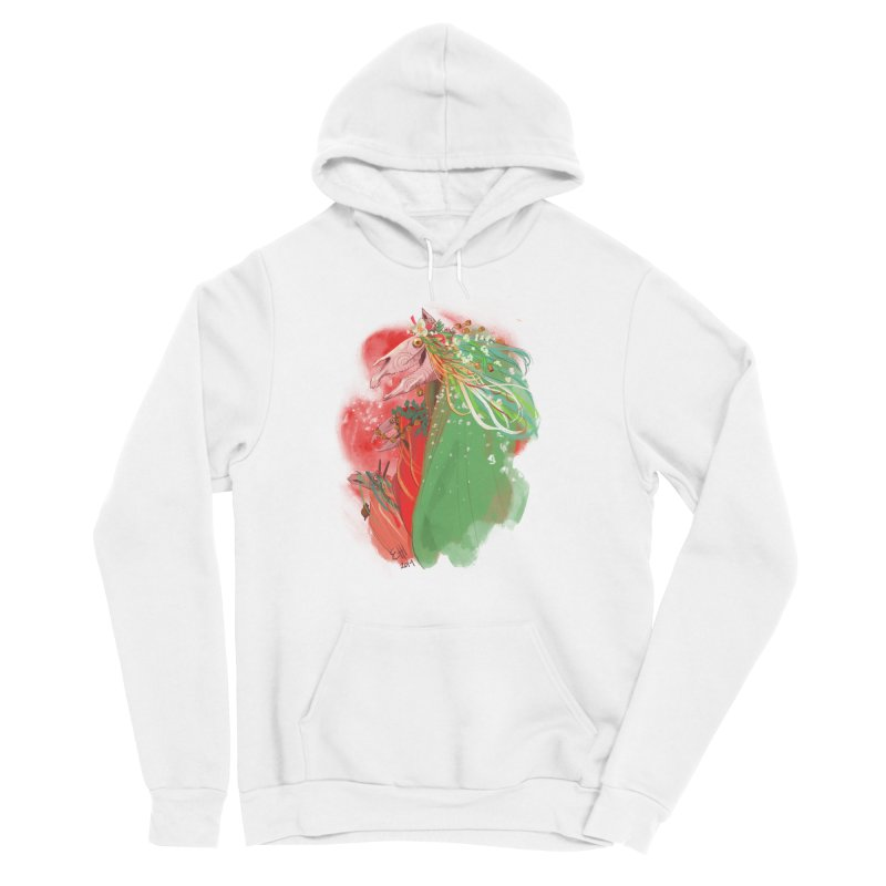 The Mari Lwyd Men's Sponge Fleece Pullover Hoody by Erica Fails at Merch
