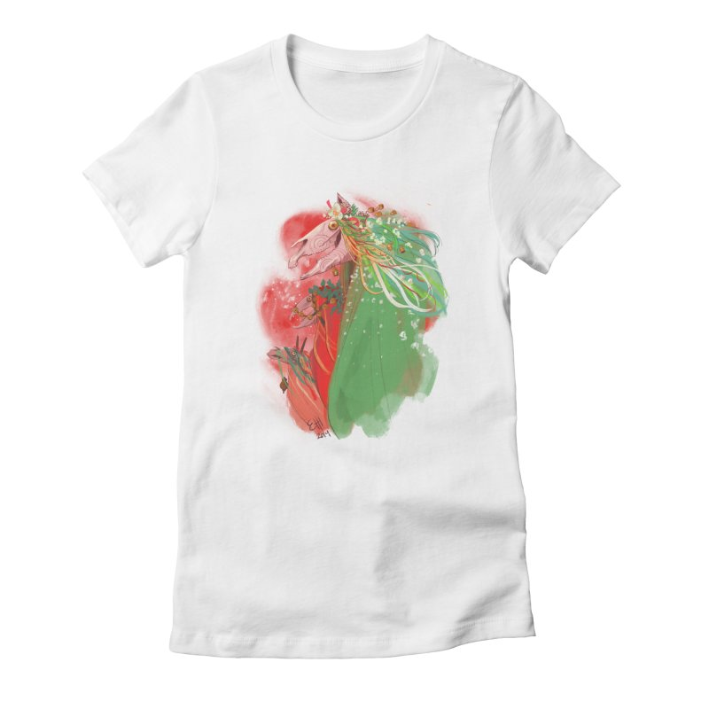 The Mari Lwyd Women's Fitted T-Shirt by Erica Fails at Merch