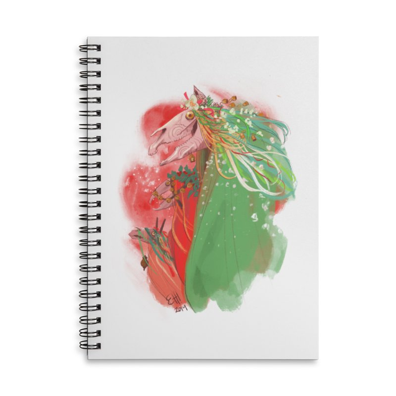 The Mari Lwyd Accessories Lined Spiral Notebook by Erica Fails at Merch