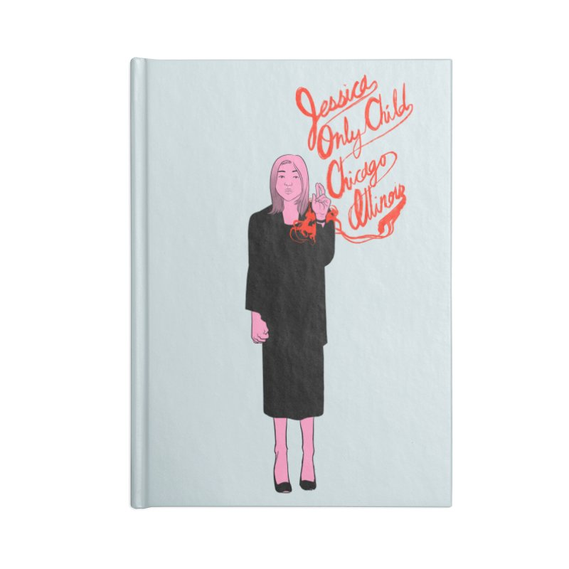 Jessica Only Child Accessories Blank Journal Notebook by Erica Fails at Merch