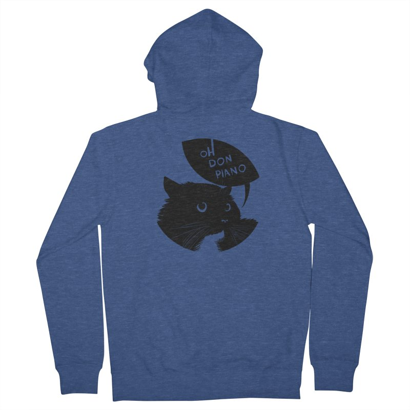 Don Piano Men's Zip-Up Hoody by Erica Fails at Merch