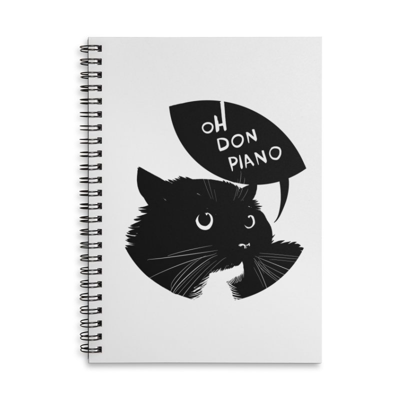 Don Piano Accessories Notebook by Erica Fails at Merch