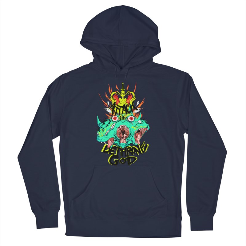 ATTACK AND DETHRONE GOD Men's Pullover Hoody by Erica Fails at Merch