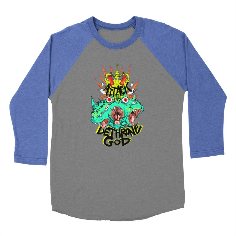 ATTACK AND DETHRONE GOD Women's Longsleeve T-Shirt by Erica Fails at Merch