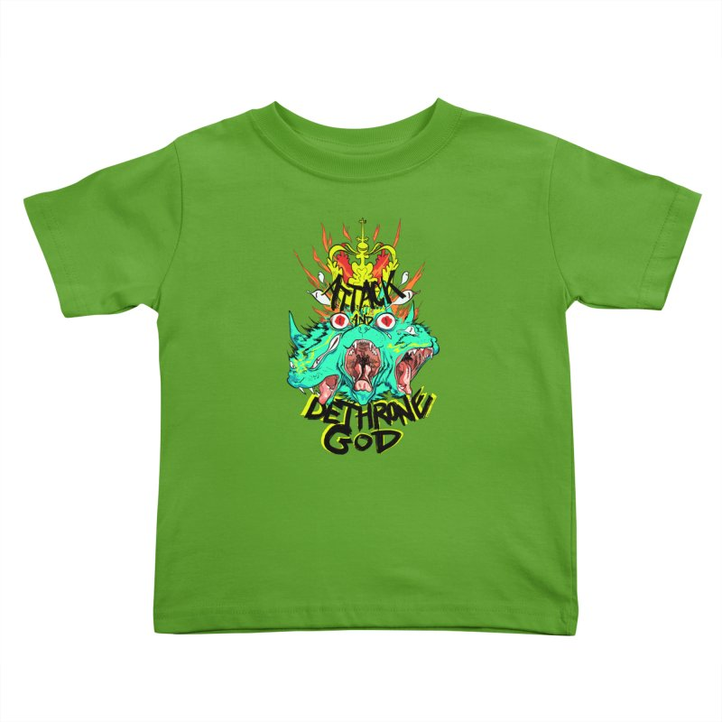 ATTACK AND DETHRONE GOD Kids Toddler T-Shirt by Erica Fails at Merch