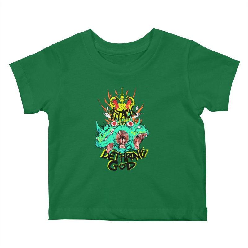 ATTACK AND DETHRONE GOD Kids Baby T-Shirt by Erica Fails at Merch