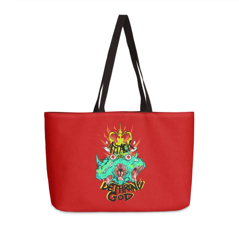 ATTACK AND DETHRONE GOD Accessories Bag by Erica Fails at Merch