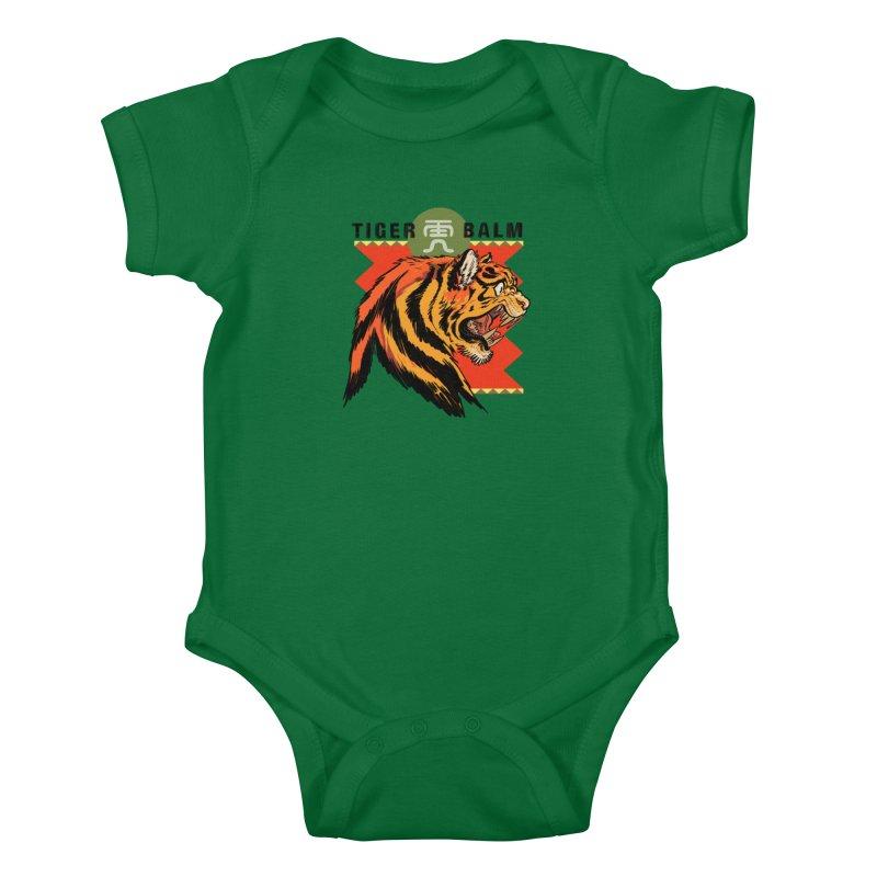 Tiger Balm Kids Baby Bodysuit by Erica Fails at Merch