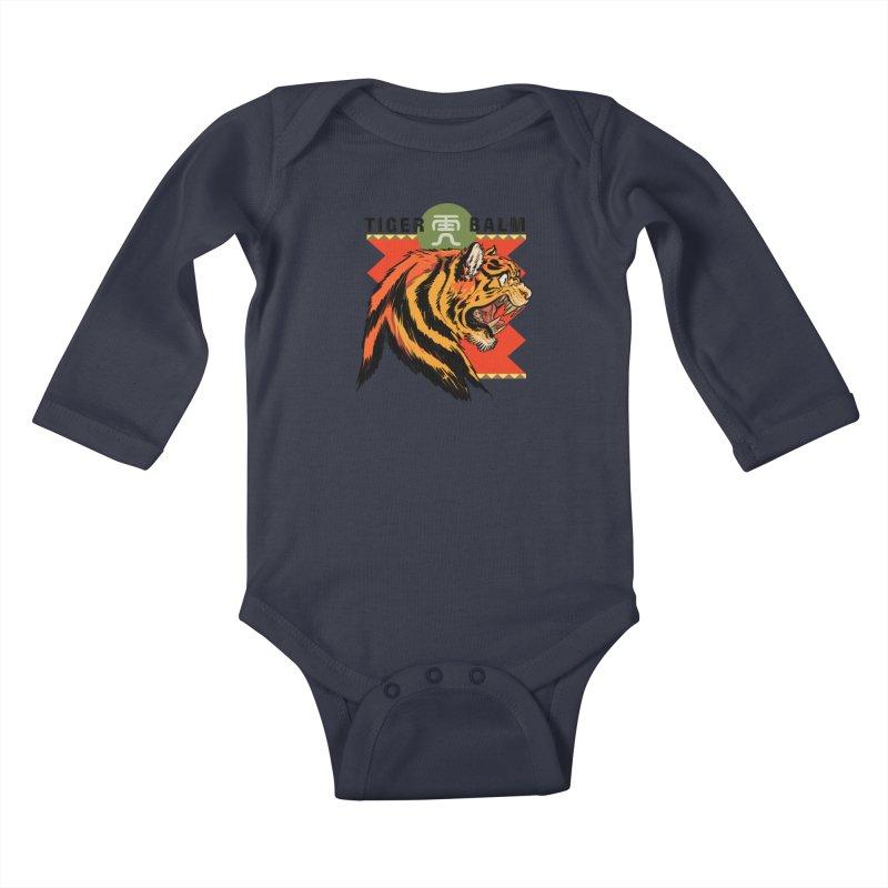 Tiger Balm Kids Baby Longsleeve Bodysuit by Erica Fails at Merch