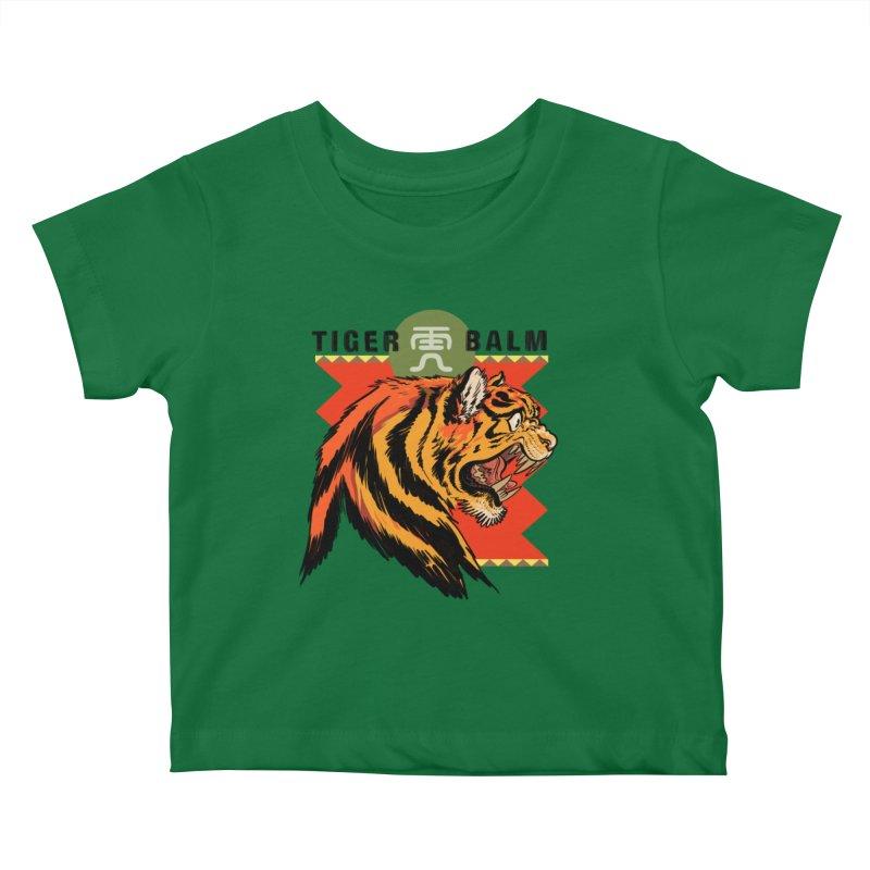 Tiger Balm Kids Baby T-Shirt by Erica Fails at Merch