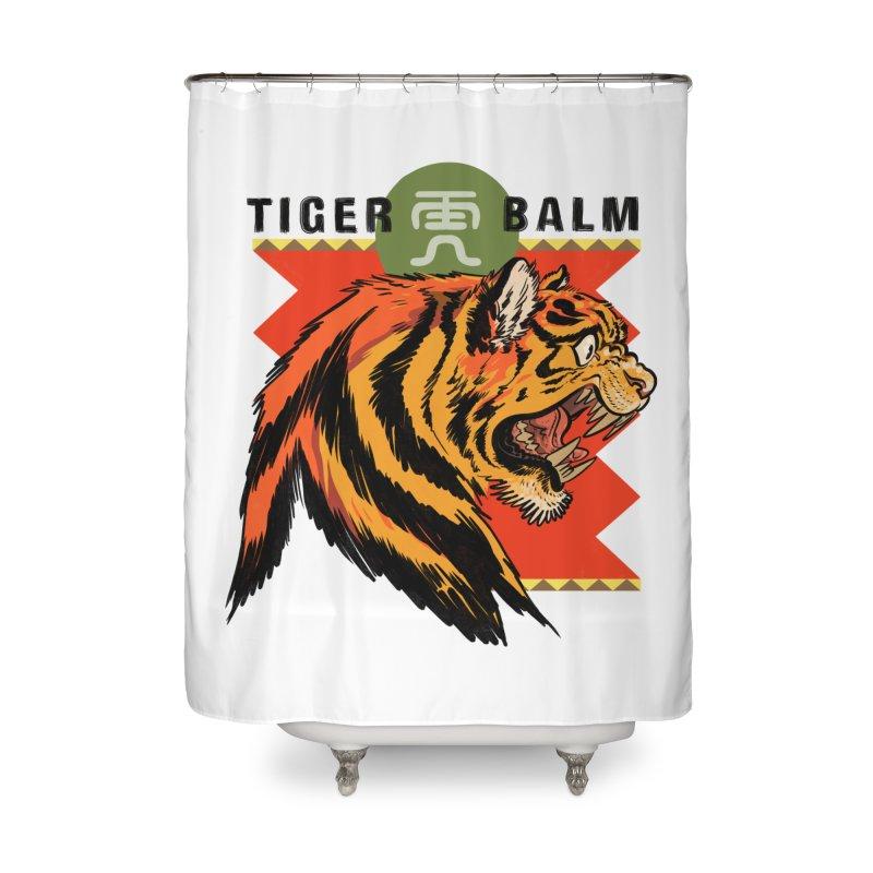 Tiger Balm Home Shower Curtain by Erica Fails at Merch