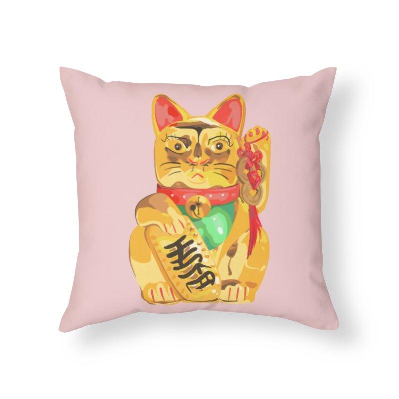 An auspicious shirt Home Throw Pillow by Erica Fails at Merch