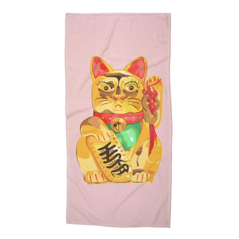 An auspicious shirt Accessories Beach Towel by Erica Fails at Merch