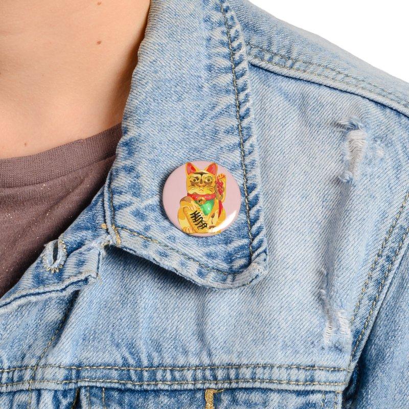 An auspicious shirt Accessories Button by Erica Fails at Merch