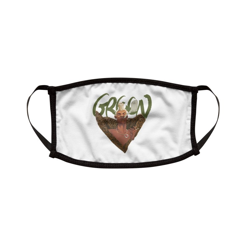 GREEN Accessories Face Mask by Erica Fails at Merch