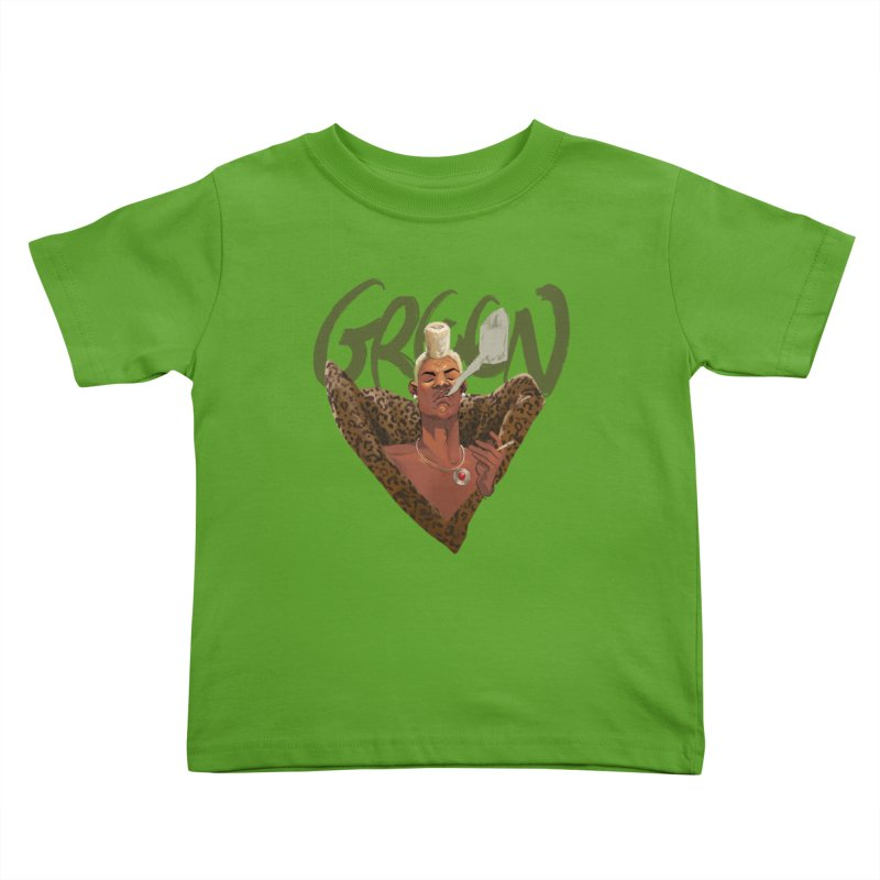 GREEN Kids Toddler T-Shirt by Erica Fails at Merch