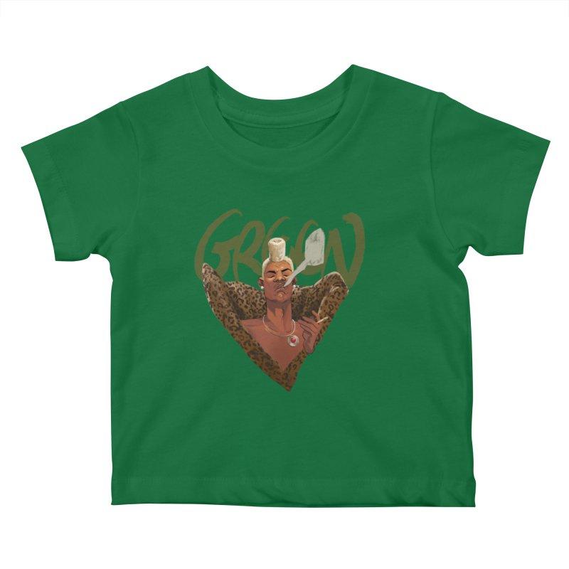 GREEN Kids Baby T-Shirt by Erica Fails at Merch