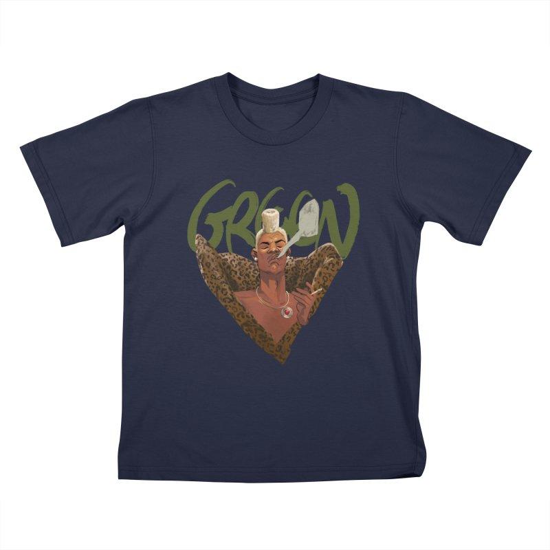 GREEN Kids T-Shirt by Erica Fails at Merch