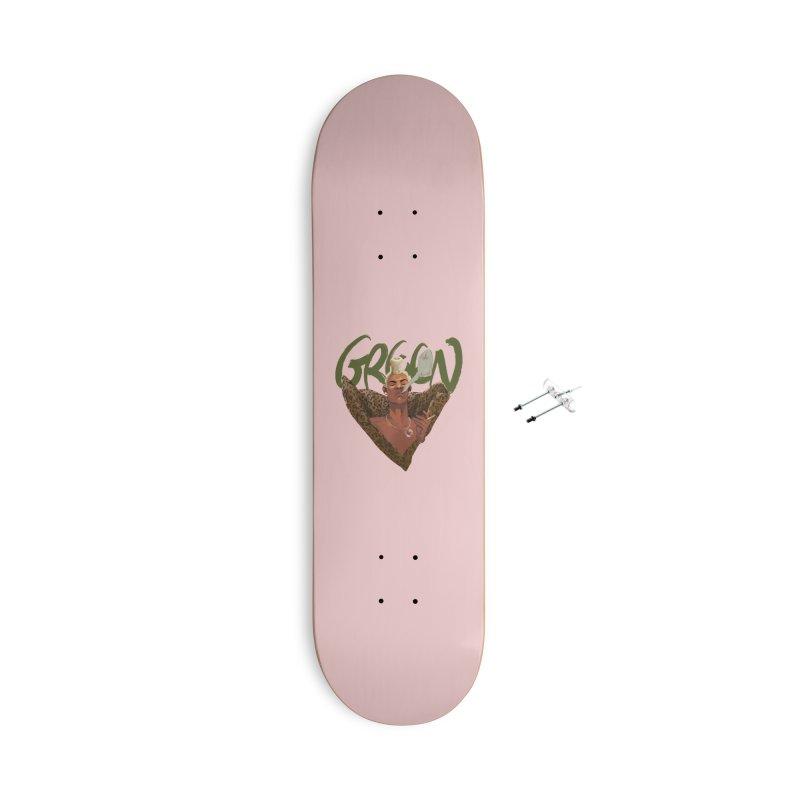 GREEN Accessories Skateboard by Erica Fails at Merch