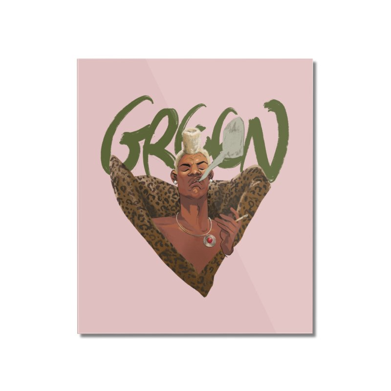 GREEN Home Mounted Acrylic Print by Erica Fails at Merch