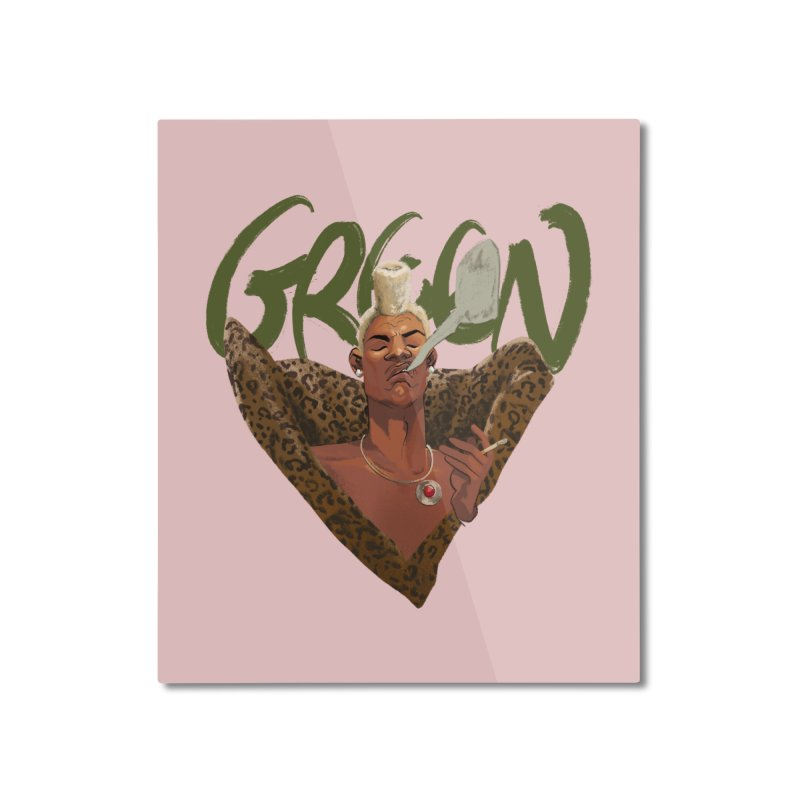 GREEN Home Mounted Aluminum Print by Erica Fails at Merch