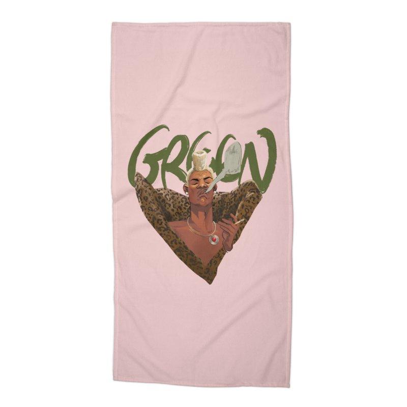 GREEN Accessories Beach Towel by Erica Fails at Merch