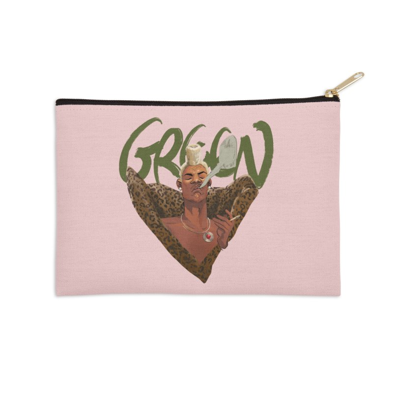 GREEN Accessories Zip Pouch by Erica Fails at Merch