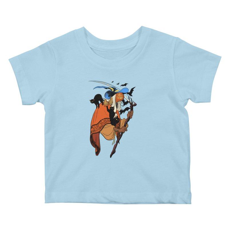 Autumn Chill Kids Baby T-Shirt by Erica Fails at Merch