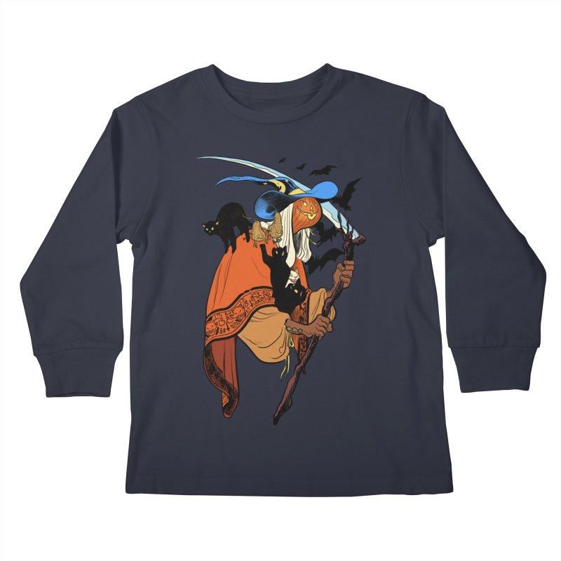 Autumn Chill Kids Longsleeve T-Shirt by Erica Fails at Merch