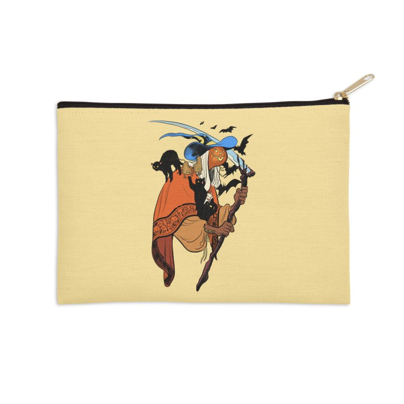 Autumn Chill Accessories Zip Pouch by Erica Fails at Merch