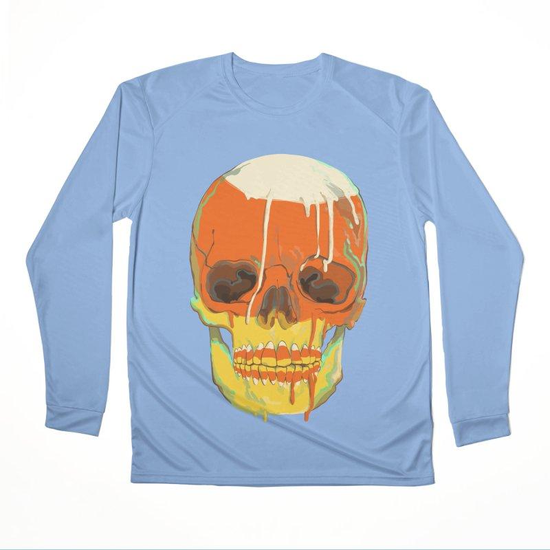 Candy Corn Cranium Men's Longsleeve T-Shirt by Erica Fails at Merch