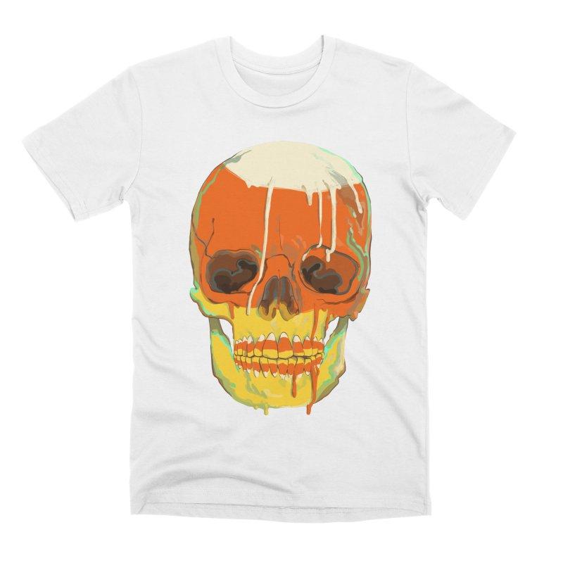 Candy Corn Cranium Men's T-Shirt by Erica Fails at Merch